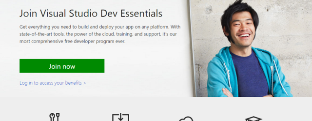 Hat tip to Troy Hunt for the great pointer!  Do yourself a favor and head over to Microsoft's new Dev Essential Center and sign up right now. Microsoft has always […]